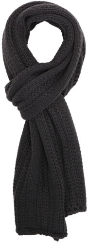 Fashion Mens Cable Stripe Knit Solid Winter Warm Long Soft Scarf Scarves Wrap