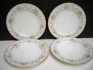 4-NORITAKE-DINNER-PLATES-039-039-MEMORY-039-039-10-1-2-INCHES