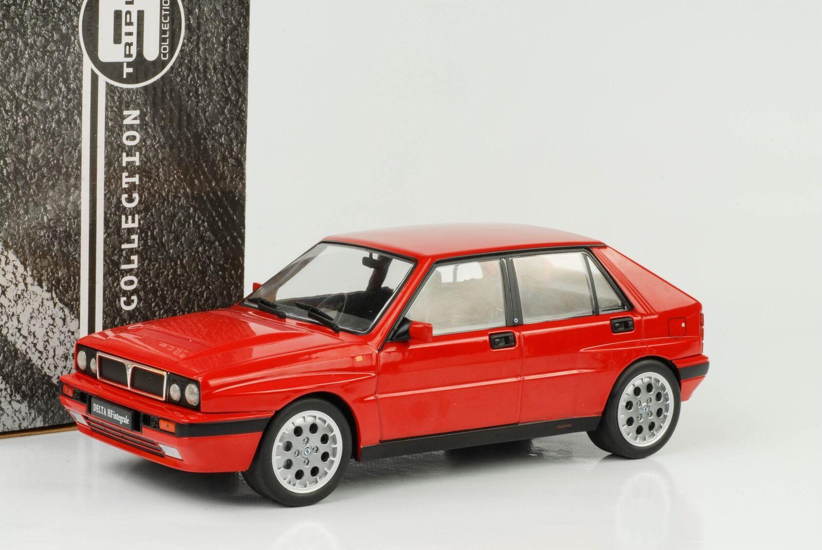 Lancia Delta HF intégrale 16 V ROUGE année 1990 1 18 Triple 9 Miniature