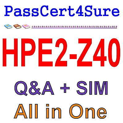 HP Delta Aruba Switching Fundamentals for Mobility HPE2-Z40 Test Exam QA PDF+SIM