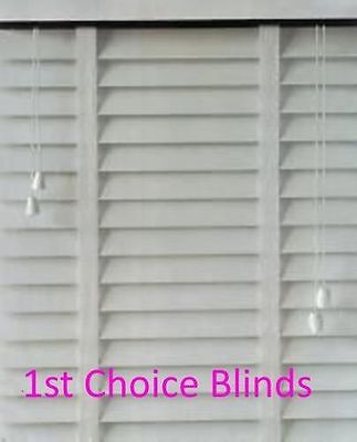 Made To Measure Faux Wood Plastic Venetian Blind White