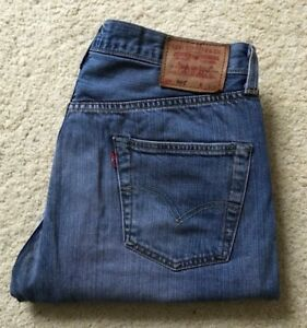 so cheap a few days away choose genuine Details about Vintage Limited Edition 1947 Levis 501 blue denim jeans W 34  L 29