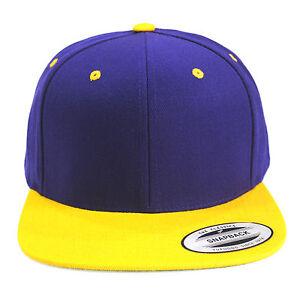 La imagen se está cargando Nuevo-yupoong-Clasico-Morado-Amarillo-Lakers -Snapback-Era- 589a4c04388