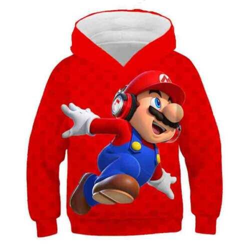 Details about  /Super Mario Kids Hoodie Pullover Captain America Sweatshirts Hooded Coat Jacket