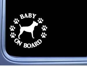 "Baby On Board Stock Corso L531 6 "" Aufkleber Hund Aufkleber"