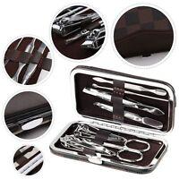 Nail Care Clipper Manicure Pedicure Cutter Cuticle Kit Cleaner Nail Art Case Set