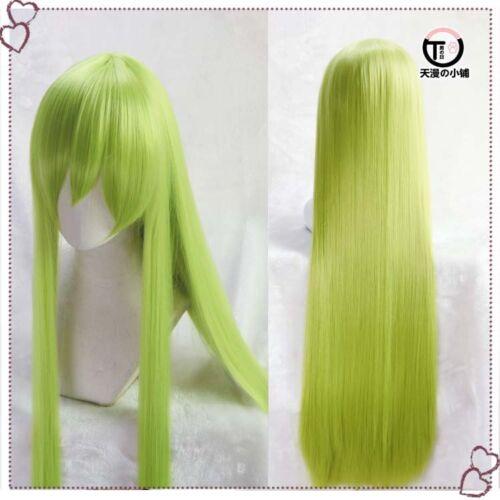 GrFate Grand Order FGO Enkidu Costume Cosplay Straight Hair 90cm Wig Wig CAP