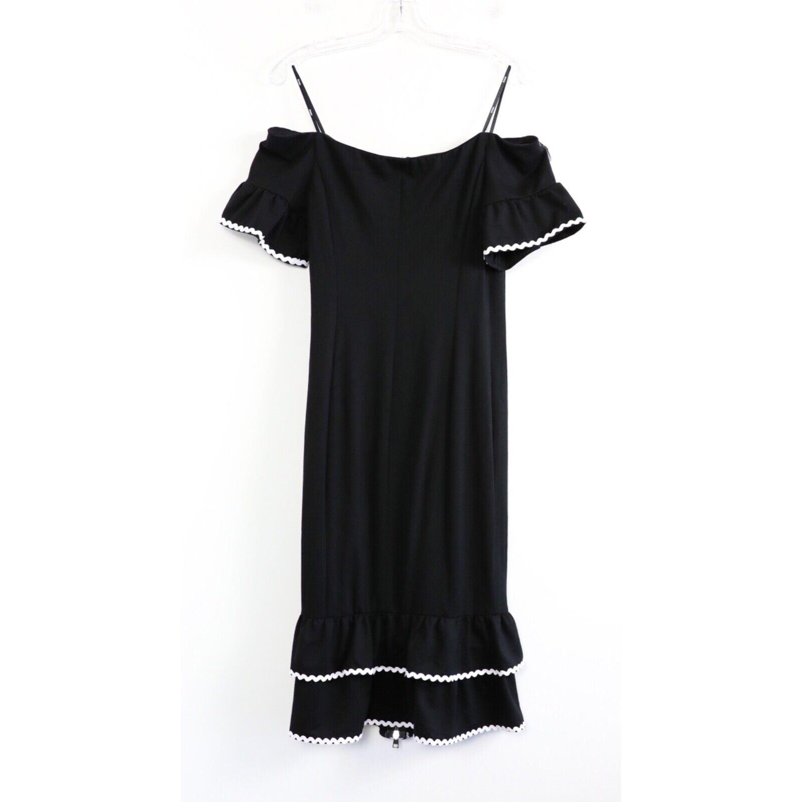 Tenax little black dress form fitting front zip 5… - image 3