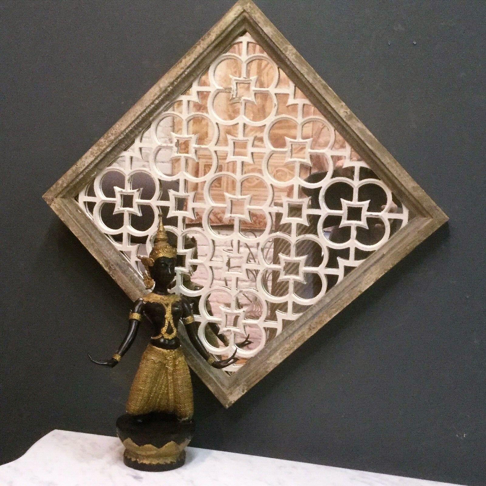 Beautiful Middle Eastern Moorish MGoldccan Rustic Style Wood Mirror