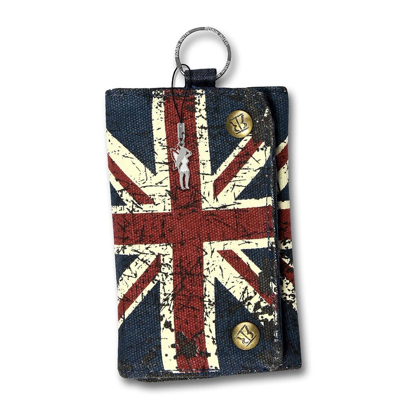 Robin RUTH CANVAS Matte Wallet Mini Purse Blue Union Jack Wallet OPG100F