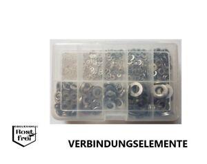 Karosseriescheiben Sortiment 150 Teile EDELSTAHL A2 4,3//5,3 versandkostenfrei