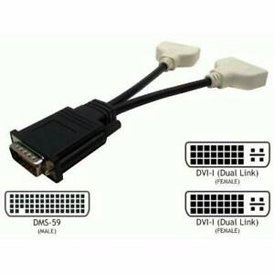 DMS-59 Male to 2x DVI-I Dual Link Female Monitor Video Adapter Cable