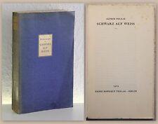 Polgar: Schwarz auf Weiss 1929 Rowohlt, Erstausgabe - Literatur, Erzählungen xz