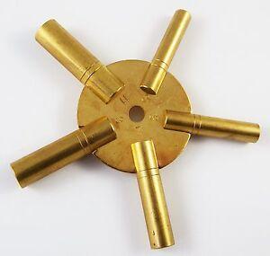ottone-Orologio-RAGNO-CHIAVE-avvolgibile-CHIAVI-3-11-NEW-Strumento