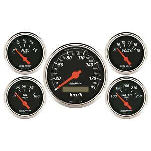 Autometer AMT-1421M Gauge Kit, Speedometer, Designer Black, 3 1/8 in. & 2 1/16 i