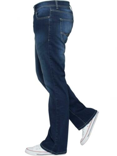 Apt Mens Bootcut Wide Leg Jeans Flared Stretch Denim Jeans