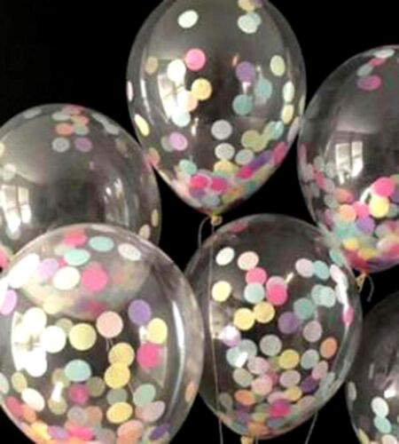 "Confetti Filled Balloons 12""/ 36"" Large Helium Quality Party Wedding Decorations by Ebay Seller"
