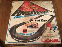 "*LQQK* ""LIONEL-SLOT CAR SET- THE FIRE LEAP POWER PASSERS"" complete set w/2 cars>"