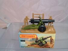 MATCHBOX LESNEY SUPERFAST 32C ARMY FIELD GUN VINTAGE WITH ITS BOX SEE PHOTOS