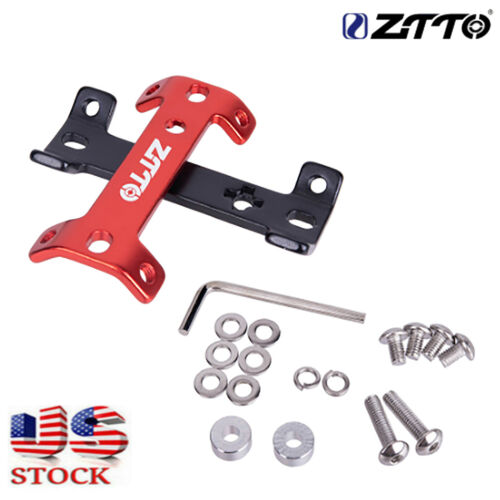ZTTO Double Head Bicycle Bottle Cage Extender Aluminum Alloy Water Cup Mount USA