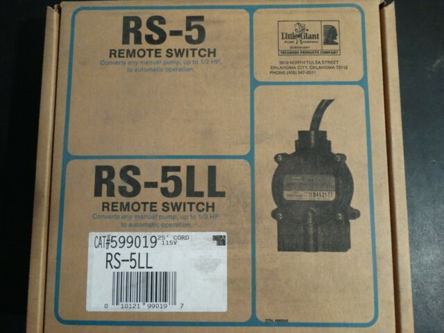 LITTLE GIANT RS-5-LL NO Mechanical Float Switch 115VAC