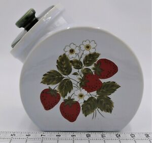 Nelson McCoy Strawberry Country Cookie Jar or Canister Tilt 70's Vintage