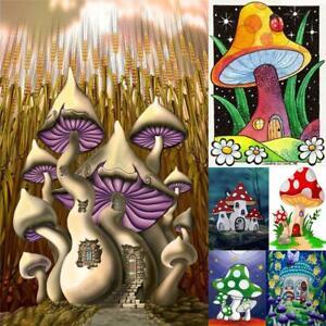5D-DIY-Diamond-Painting-Full-Drill-Mushroom-Cross-Stitch-Kit-Wall-Art-Decor