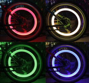 2 Pack LED Tire Wheel Valve Stem Cap Light For Car Bike Bicycle Motorcycle
