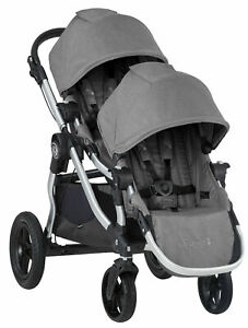 Baby-Jogger-City-Select-Twin-Tandem-Double-Stroller-w-Second-Seat-Slate
