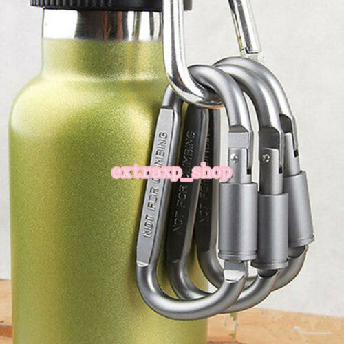 5Pcs Ideal Aluminum Carabiner D-Ring Key Chain Keychain Clip Hook Buckle Outdoor
