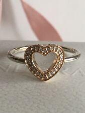 80d8573aa PANDORA Genuine 14 Ct Gold Diamond Leaf Pattern Ring Size 54 150163 ...