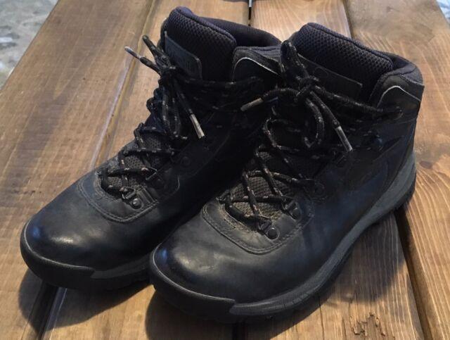 Columbia Yoncalla Mens Waterproof Hiking Boots Size US 8 EU 41 Black Leather