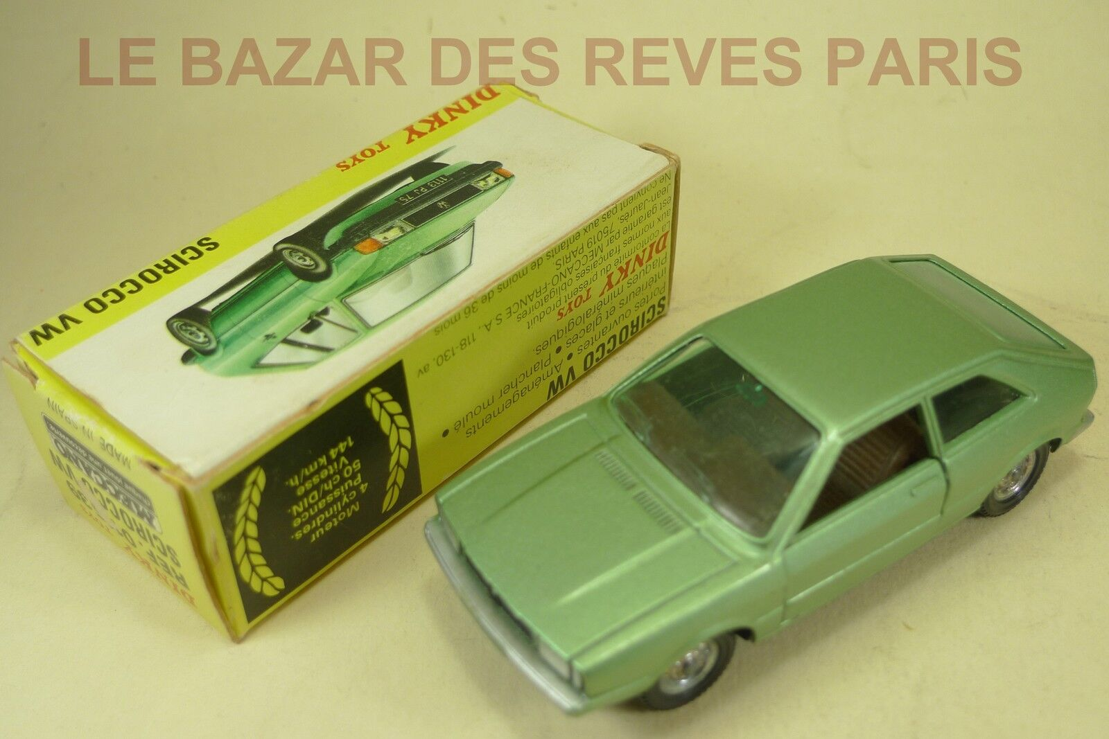 DINKY TOYS ESPAGNE.   VW SCIROCCO.      REF  011539 + boite.