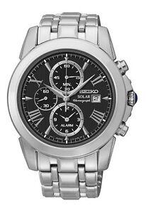 Seiko SSC193 SSC193P9 Mens Solar Alarm Chronograph Watch WR100m NEW RRP $795.00