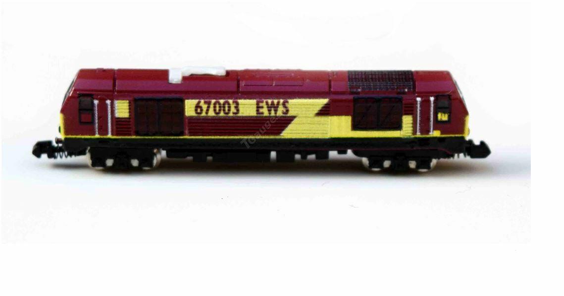 T Gage BR klass 67 Locomotive Number 6707