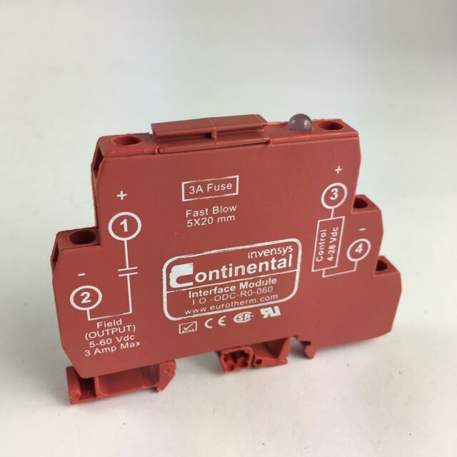 CONTINENTAL I.O.-ODC-R0-060 INTERFACE MODULE SOLID STATE RELAY 3A