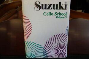 Suzuki Cello School Cello Part & Piano Accompaniment Volume 9 (livre Seul)-afficher Le Titre D'origine Qualité SupéRieure (En)