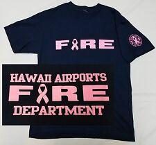 HAWAII AIRPORTS FIRE DEPT HFD T-shirt Small - Breast Cancer Awareness Honolulu