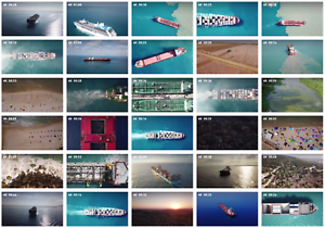 STOCK-4K-VIDEO-AERIAL-Royalty-free-ship-container-port-bulk-cruise-power