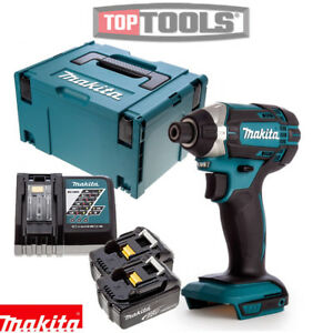 Makita-DTD152Z-18V-Imapct-Driver-With-2-x-3Ah-Batteries-Charger-Case-amp-Inlay