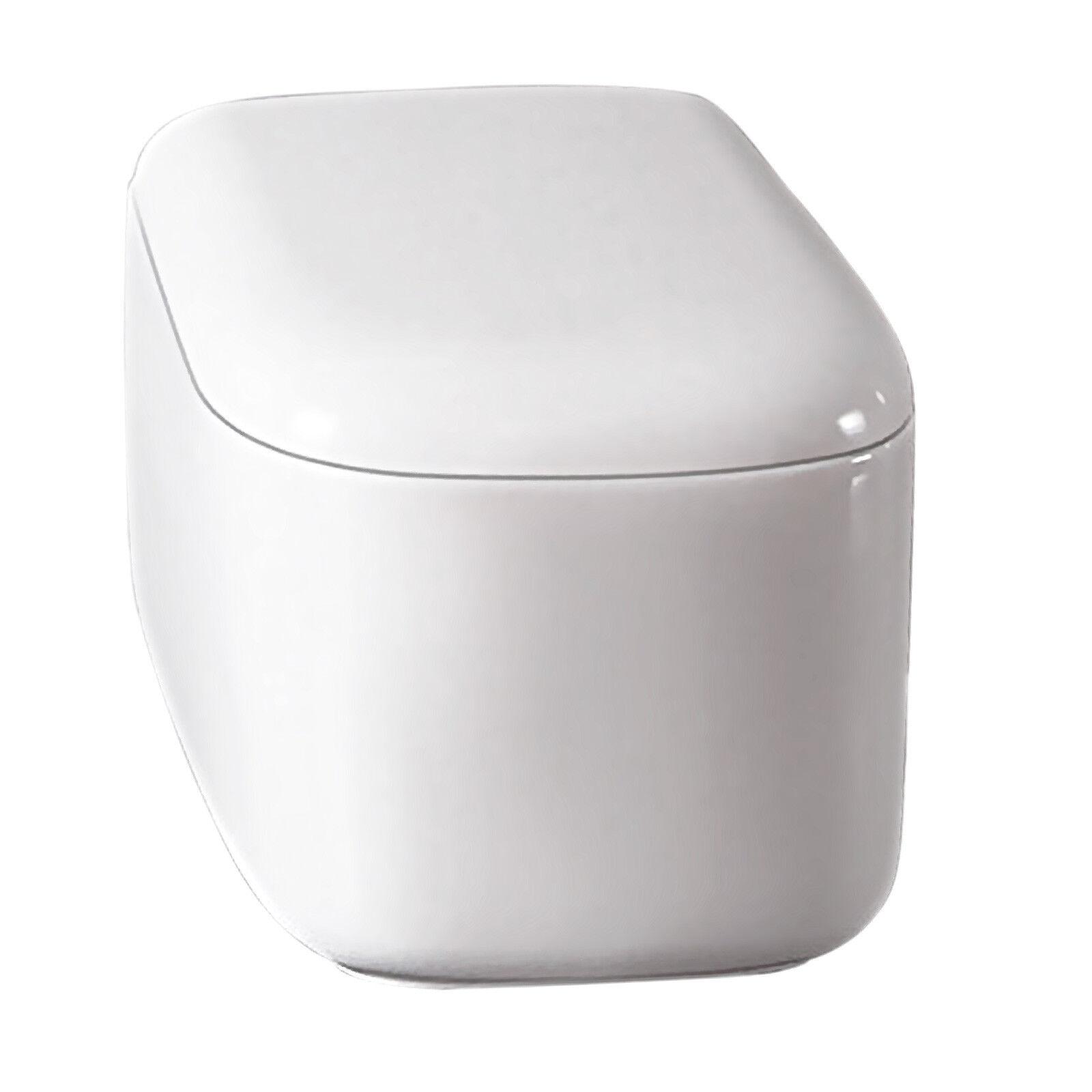 Vaso wc sospeso Round in ceramica con sedile Soft-Close per bagno moderno