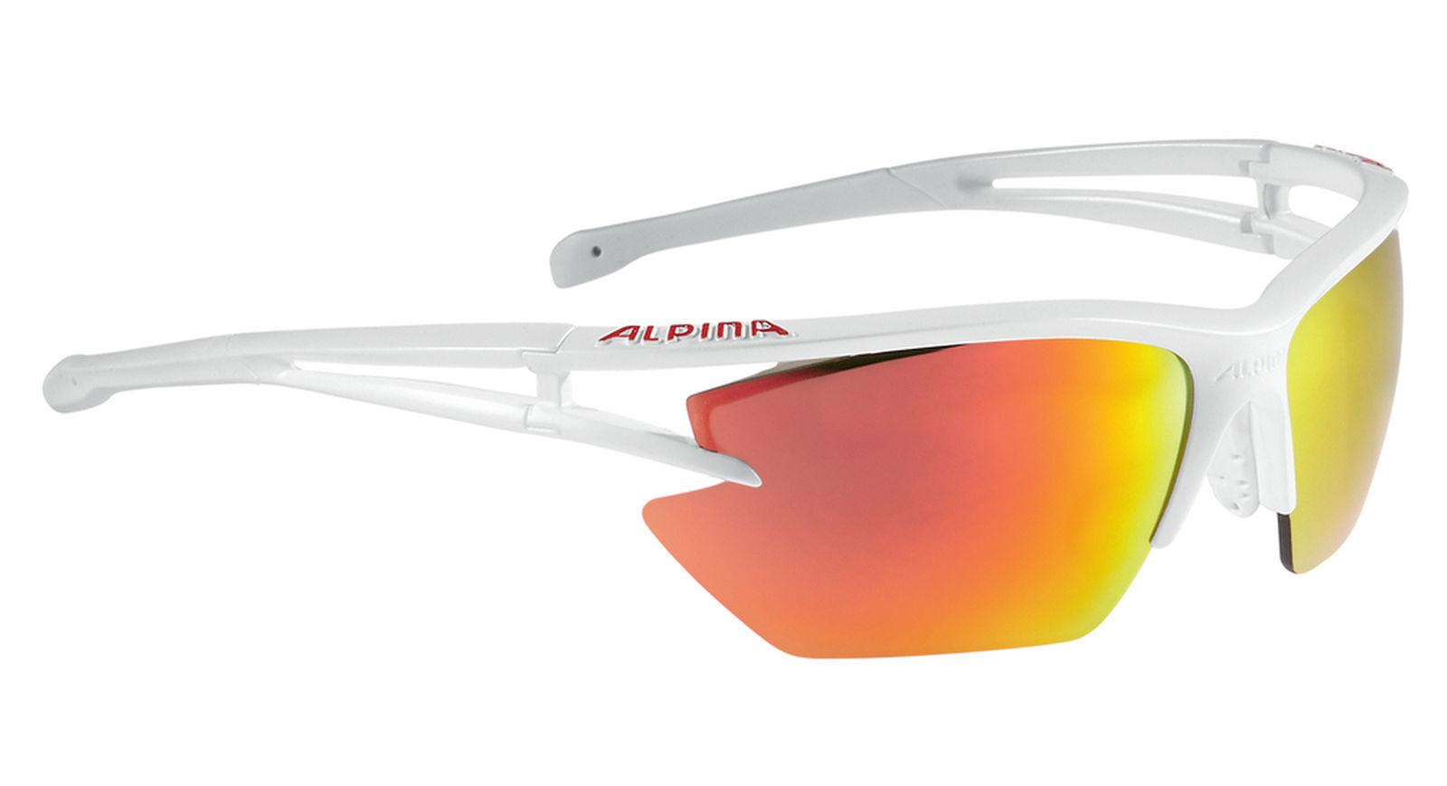 Alpina Gafas Deportivas para Ciclista EYE-5 Trasera Escudo Cerámica Espejo White