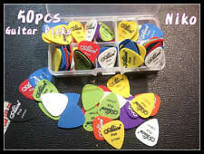 50pcs Alice Sandblast Nylon Acoustic Electric Guitar Picks Plectrums 6 Thickness