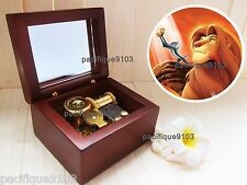 Wood Hurdy Gurdy Sankyo Music Box Lion King Musical Circle of Life Simba Gift