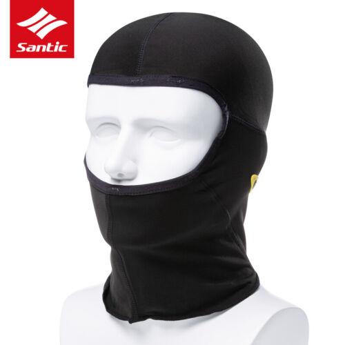 SANTIC Winter Thermal Hat Windproof Bike Outdoor Skiing Cap Black Free Size
