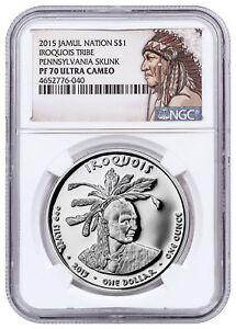 2015-Native-Silver-Dollar-PA-Iriquois-Skunk-1-oz-Silver-NGC-PF70-UC-SKU52749