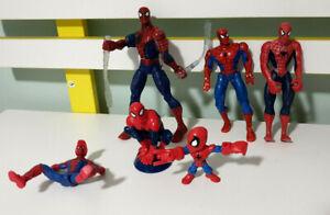 Lot-of-6x-Marvel-Spider-Man-Figurines-6-15cm-Tall-DIY-Spiderverse-Kit