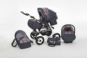 VIP Kombikinderwagen + Babyschale  + Kinderwagen 3 in 1 SET   Sofort Lieferbar