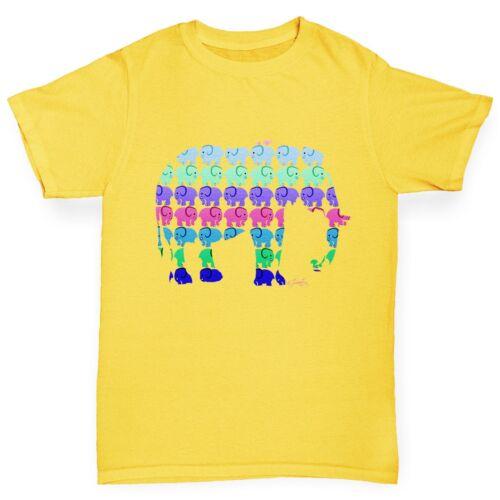 Twisted Envy Boy/'s Elephants Pattern Cotton T-Shirt