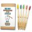 miniature 1 - Natural Bamboo Toothbrush BPA Free Color Bristles Pack of 5 Organic Labs